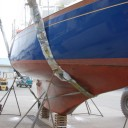 Profile of her cutaway full keel