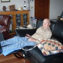 Dad resting at home