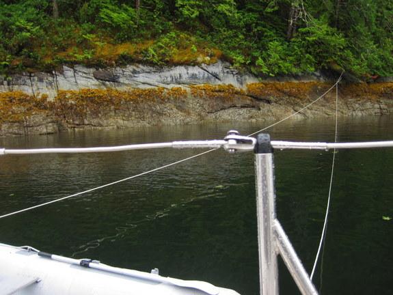 Close shore at Laura Cove
